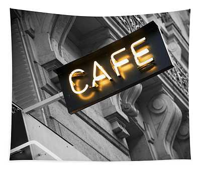 Cafe Photographs Wall Tapestries