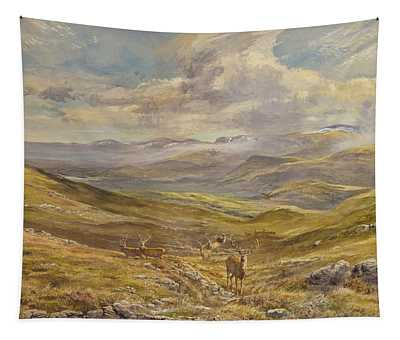 Cairngorms From Kinrara, 1988 Wc Tapestry