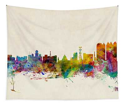 Calcutta India Skyline Tapestry