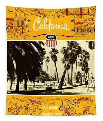 California And Las Vegas Tapestry