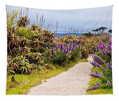 California Coastline Path Tapestry
