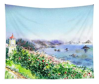 Lighthouse Trinidad California Tapestry