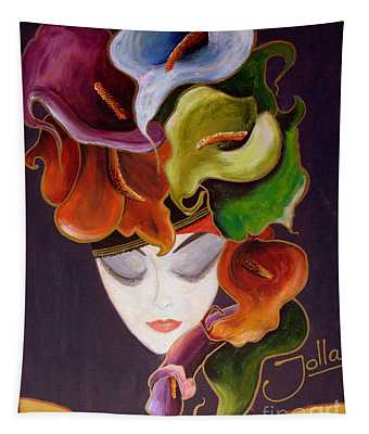 Calla Lily Dame.. Tapestry