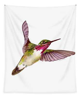 Calliope Hummingbird Tapestry