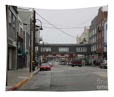 Calm Morning At Monterey Cannery Row California 5d24761 Tapestry