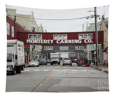 Calm Morning At Monterey Cannery Row California 5d24773 Tapestry