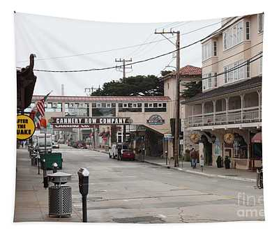 Calm Morning At Monterey Cannery Row California 5d24777 Tapestry