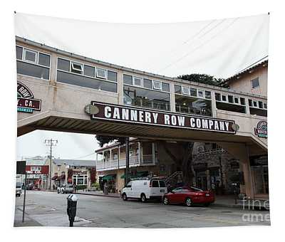 Calm Morning At Monterey Cannery Row California 5d24780 Tapestry
