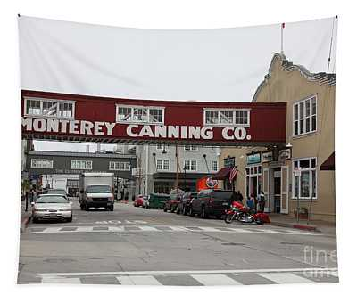 Calm Morning At Monterey Cannery Row California 5d24781 Tapestry