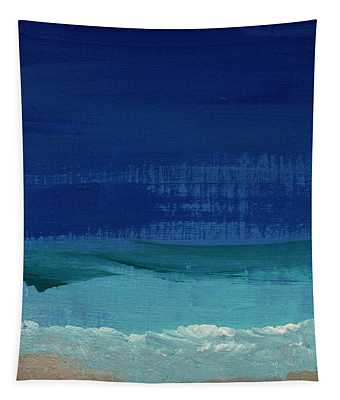 Calm Waters- Abstract Landscape Painting Tapestry