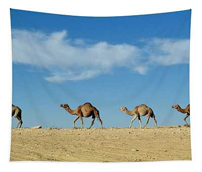 Camel Train Tapestry