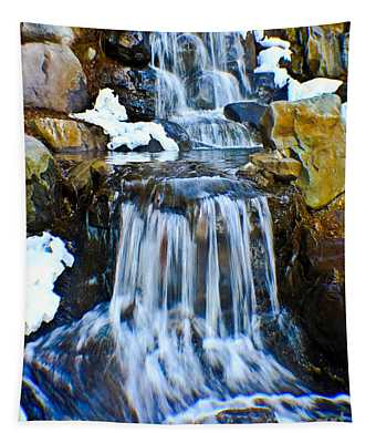 Tapestry featuring the photograph Camelback Mini Falls by Gary Keesler