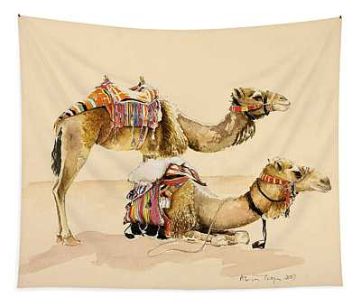 Camels From Petra Tapestry