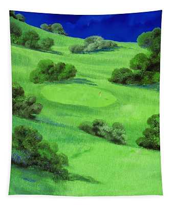 Campo Da Golf Di Notte Tapestry