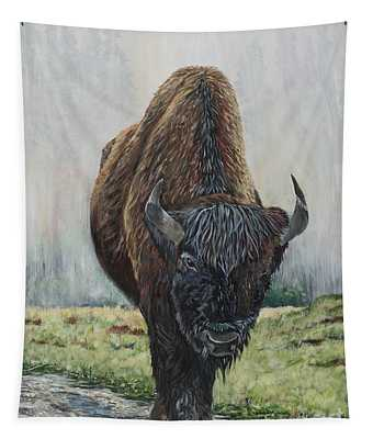 Canadian Bison Tapestry
