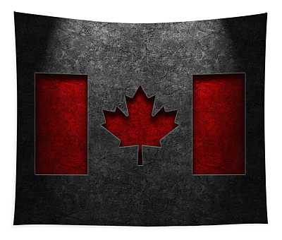 Canadian Flag Stone Texture Tapestry