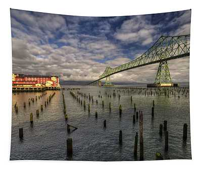 Cannery Pier Hotel And Astoria Bridge Tapestry