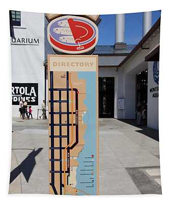 Cannery Row Directory At The Monterey Bay Aquarium California 5d25018 Tapestry