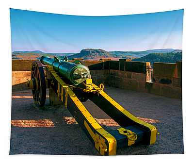 Cannon At The Fortress Koenigstein Tapestry