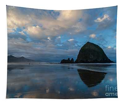 Cannon Beach Calm Morning Tidal Flats Tapestry