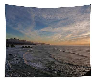 Cannon Beach Sunset Tapestry