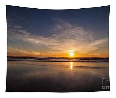 Cannon Beach Sunset Vision Tapestry