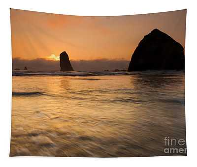 Cannon Beach Tides Tapestry