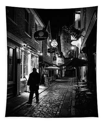 Canterbury At Night Tapestry