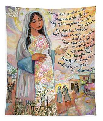 Mary The Mother Of God Wall Tapestries