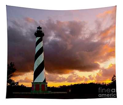Cape Hatteras Sunset Tapestry