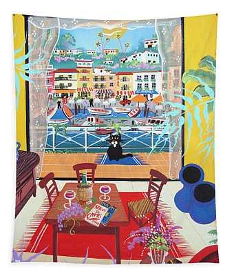 Capri, Italy, 2012 Acrylic On Canvas Tapestry