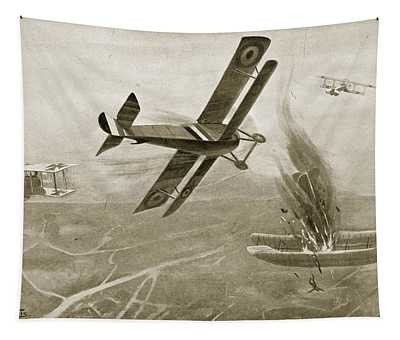 Captain Hawkers Aerial Battle Tapestry