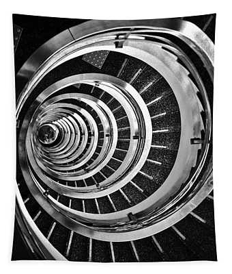Time Tunnel Spiral Staircase In Sao Paulo Brazil Tapestry
