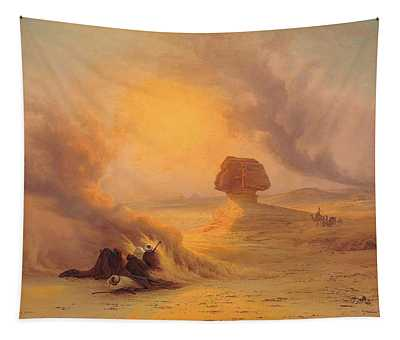Caravan Caught In The Sinum Wind Near Gizah Tapestry