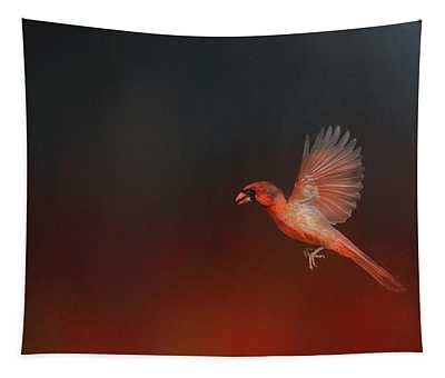 Cardinal 1 - I Wish I Could Fly Series Tapestry