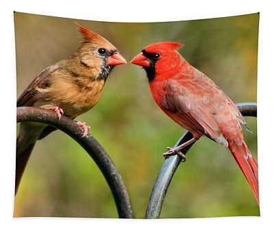 Cardinal Love Tapestry