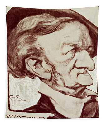 Caricature Of Richard Wagner Tapestry