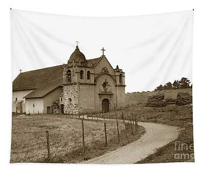 Carmel Mission Monterey Co. California Circa 1890 Tapestry