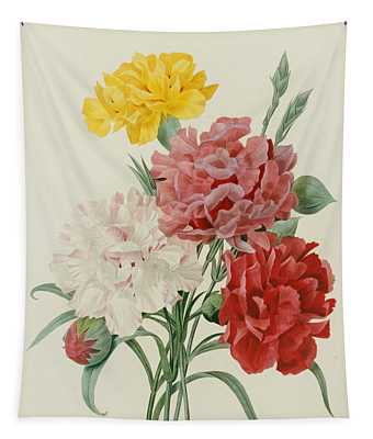 Carnations From Choix Des Plus Belles Fleures Tapestry