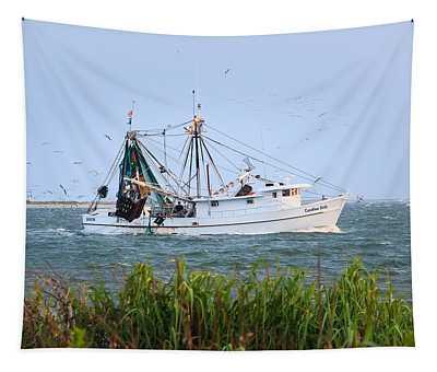 Carolina Girls Shrimp Boat Tapestry
