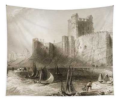 Carrickfergus Castle, County Antrim, Northern Ireland, From Scenery And Antiquities Of Ireland Tapestry