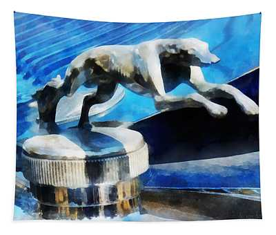 Cars - Lincoln Greyhound Hood Ornament Tapestry