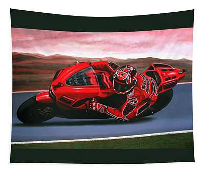 Casey Stoner On Ducati Tapestry