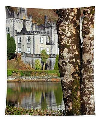 Castle Behind The Trees Tapestry
