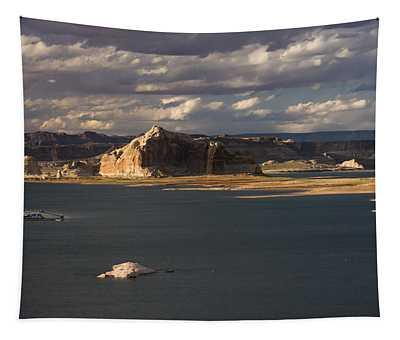 Castle Rock Sunset Tapestry