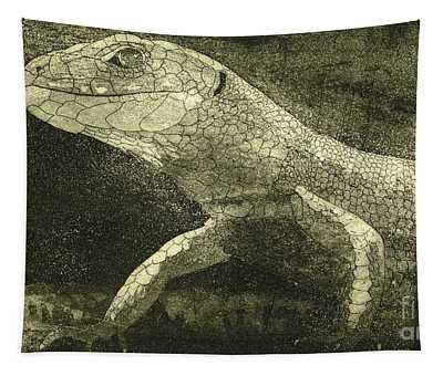 casual meeting Reptile Viviparous Lizard  Lacerta vivipara Tapestry