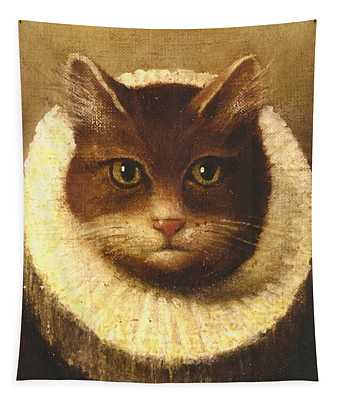 Cat In A Ruff Tapestry