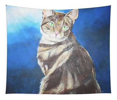 Cat Profile Tapestry