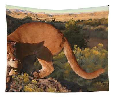 Cat Stretch Tapestry