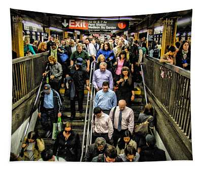 Catching The Subway Tapestry